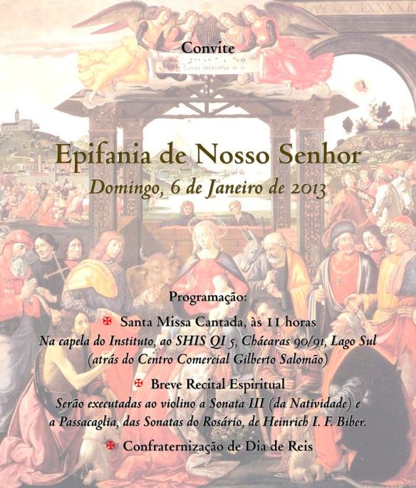 Convite para a Missa da Epifania de 2013
