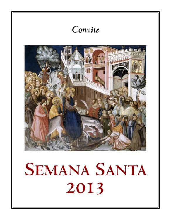 Convite para Domingo de Ramos Tríduo e Domingo de Páscoa (2013) - pg  1