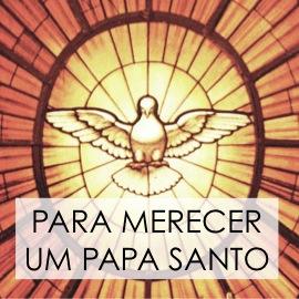 rezar por um papa santo