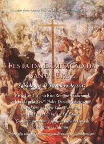 Convite para a Missa da Exaltação da Santa Cruz (2013)