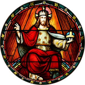 Cristo Rei - StJohnsAshfield_StainedGlass_King