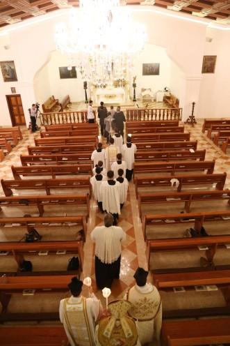 Entrada da procissão na Capela
