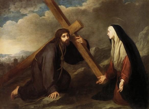 Jesus encontra Sua Mãe Murillo